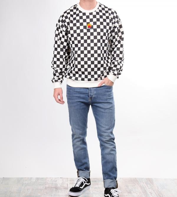 Kaotiko Rosa Check Sweatshirt