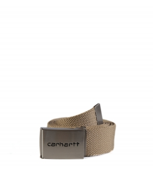 Carhartt WIP Clip Belt Chrome Leather